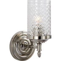 Visual Comfort Alexa Hampton Lita 1 Light Bath Wall Light in Polished Nickel AH2201PN-CG