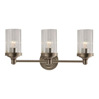 Visual Comfort Alexa Hampton Ava 3 Light Bath Wall Light in Antique Nickel AH2202AN-CG