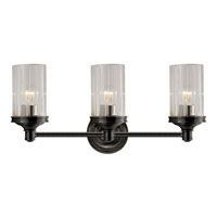 Visual Comfort Alexa Hampton Ava 3 Light Bath Wall Light in Bronze with Wax AH2202BZ-CG