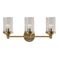 Visual Comfort AH2202HAB-CG Alexa Hampton Ava 3 Light 20 inch Hand-Rubbed Antique Brass Bath Wall Light