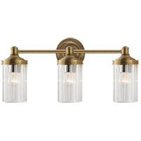Alexa Hampton Ava 3 Light 20 inch Hand-Rubbed Antique Brass Bath Wall Light