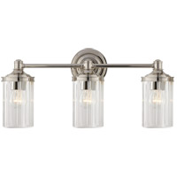 Visual Comfort AH2202PN-CG Alexa Hampton Ava 3 Light 20 inch Polished Nickel Triple Sconce Wall Light