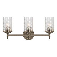 Visual Comfort Alexa Hampton Lita 3 Light Bath Wall Light in Antique Nickel AH2203AN-CG