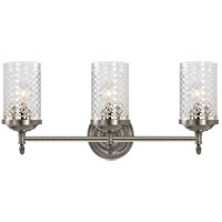 Visual Comfort AH2203AN-CG Alexa Hampton Lita 3 Light 20 inch Antique Nickel Bath Wall Light