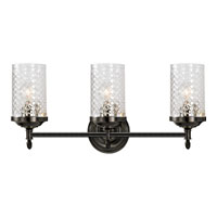 Visual Comfort Alexa Hampton Lita 3 Light Bath Wall Light in Bronze with Wax AH2203BZ-CG