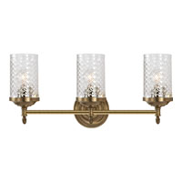 Visual Comfort Alexa Hampton Lita 3 Light Bath Wall Light in Hand-Rubbed Antique Brass AH2203HAB-CG