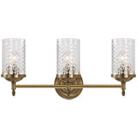 Visual Comfort AH2203HAB-CG Alexa Hampton Lita 3 Light 20 inch Hand-Rubbed Antique Brass Bath Wall Light
