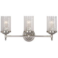 Visual Comfort Alexa Hampton Lita 3 Light Bath Wall Light in Polished Nickel AH2203PN-CG