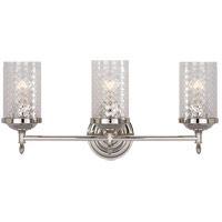 Visual Comfort AH2203PN-CG Alexa Hampton Lita 3 Light 20 inch Polished Nickel Bath Wall Light