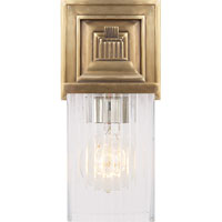 Visual Comfort Alexa Hampton Rose 1 Light Bath Wall Light in Hand-Rubbed Antique Brass AH2207HAB-CG