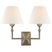 Visual Comfort AH2320AN-L Alexa Hampton Jane 2 Light 13 inch Antique Nickel Double Sconce Wall Light