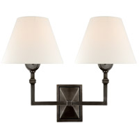 Visual Comfort AH2320GM-L Alexa Hampton Jane 2 Light 13 inch Gun Metal Double Sconce Wall Light