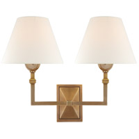 Visual Comfort AH2320HAB-L Alexa Hampton Jane 2 Light 13 inch Hand-Rubbed Antique Brass Double Sconce Wall Light