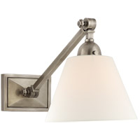 Visual Comfort AH2325AN-L Alexa Hampton Jane 1 Light 8 inch Antique Nickel Single Library Wall Light