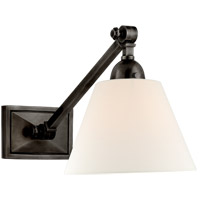 Visual Comfort AH2325GM-L Alexa Hampton Jane 1 Light 8 inch Gun Metal Single Library Wall Light