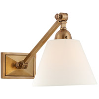 Visual Comfort AH2325HAB-L Alexa Hampton Jane 1 Light 8 inch Hand-Rubbed Antique Brass Single Library Wall Light