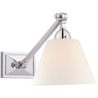 Visual Comfort AH2325PN-L Alexa Hampton Jane 1 Light 8 inch Polished Nickel Single Library Wall Light