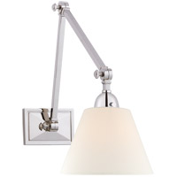 Visual Comfort AH2330PN-L Alexa Hampton Jane 1 Light 8 inch Polished Nickel Double Library Wall Light
