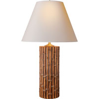 Visual Comfort Alexa Hampton Lauren 2 Light Decorative Table Lamp in Faux Bamboo AH3004FBB-NP