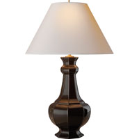 Visual Comfort Alexa Hampton Greta 2 Light Decorative Table Lamp in Dark Brown Porcelain AH3016DB-NP