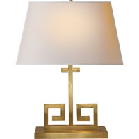 Visual Comfort Alexa Hampton Kate 2 Light Decorative Table Lamp in Natural Brass AH3024NB-NP