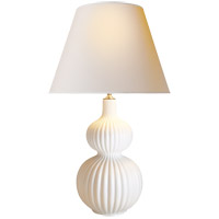 Alexa Hampton Lucille 31 inch 40 watt Plaster White Decorative Table Lamp Portable Light