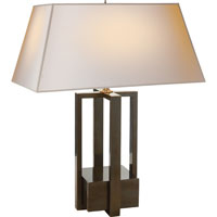 Visual Comfort Alexa Hampton Ingrid 2 Light Decorative Table Lamp in Gun Metal with Wax AH3044GM-NP