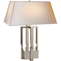 Visual Comfort Alexa Hampton Ingrid 2 Light Decorative Table Lamp in Polished Nickel AH3044PN-NP