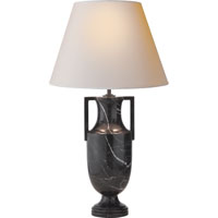Alexa Hampton Burt 28 inch 75 watt Black Marble Decorative Table Lamp Portable Light
