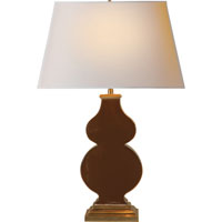 Visual Comfort Alexa Hampton Anita 1 Light Decorative Table Lamp in Dark Brown Porcelain AH3063DB-NP