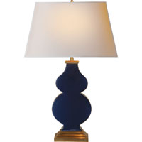 Visual Comfort Alexa Hampton Anita 1 Light Decorative Table Lamp in Midnight Blue Porcelain  AH3063MB-NP