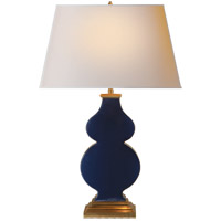 Alexa Hampton Anita 29 inch 100 watt Midnight Blue Porcelain Decorative Table Lamp Portable Light