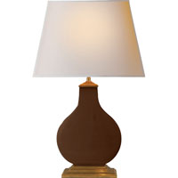 Visual Comfort Alexa Hampton Cloris 2 Light Decorative Table Lamp in Dark Brown Porcelain AH3067DB-NP