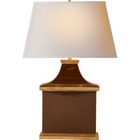 Visual Comfort Alexa Hampton Carmen 1 Light Decorative Table Lamp in Dark Brown Porcelain AH3073DB-NP