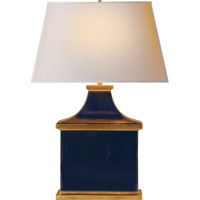 Visual Comfort Alexa Hampton Carmen 1 Light Decorative Table Lamp in Midnight Blue Porcelain  AH3073MB-NP
