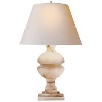 Visual Comfort AH3100ALB-NP Alexa Hampton Desmond 26 inch 150 watt Alabaster Table Lamp Portable Light
