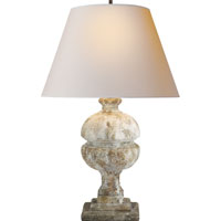 Visual Comfort Alexa Hampton Desmond 1 Light Decorative Table Lamp in Antique Gilded WoodGarden Stone AH3100GS-NP