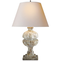 Alexa Hampton Desmond 26 inch 150 watt Antique Gilded WoodGarden Stone Decorative Table Lamp Portable Light