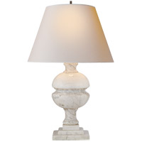 Visual Comfort AH3100WM-NP Alexa Hampton Desmond 26 inch 100 watt White Marble Decorative Table Lamp Portable Light