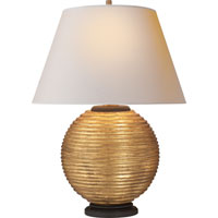Visual Comfort Alexa Hampton Hugo 1 Light Decorative Table Lamp in Gilded Wood  AH3105GW-NP