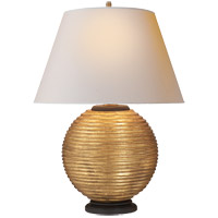 Alexa Hampton Hugo 26 inch 100 watt Gilded Wood Decorative Table Lamp Portable Light
