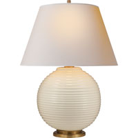 Visual Comfort Alexa Hampton Hugo 1 Light Decorative Table Lamp in Ivory Ceramic AH3105I-NP