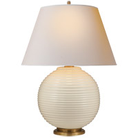 Alexa Hampton Hugo 26 inch 100 watt Ivory Ceramic Decorative Table Lamp Portable Light