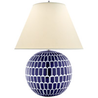 Alexa Hampton Brewster 30 inch 60 watt Blue and White Porcelain Table Lamp Portable Light