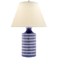 Alexa Hampton Wells 31 inch 60 watt Blue and White Porcelain Table Lamp Portable Light