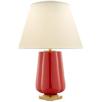 Alexa Hampton Eloise 26 inch 60 watt Berry Red Table Lamp Portable Light
