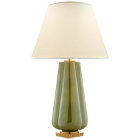 Alexa Hampton Penelope 30 inch 60 watt Green Porcelain Table Lamp Portable Light