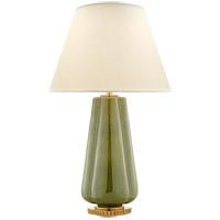 Visual Comfort AH3127GRN-PL Alexa Hampton Penelope 30 inch 60 watt Green Porcelain Table Lamp Portable Light