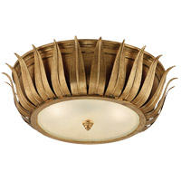 Visual Comfort Alexa Hampton Audrey 2 Light Flush Mount in Gild with Frosted Glass Shade AH4000G-FG