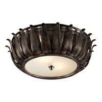 Visual Comfort Alexa Hampton Audrey 2 Light Flush Mount in Gun Metal with Wax AH4000GM-FG